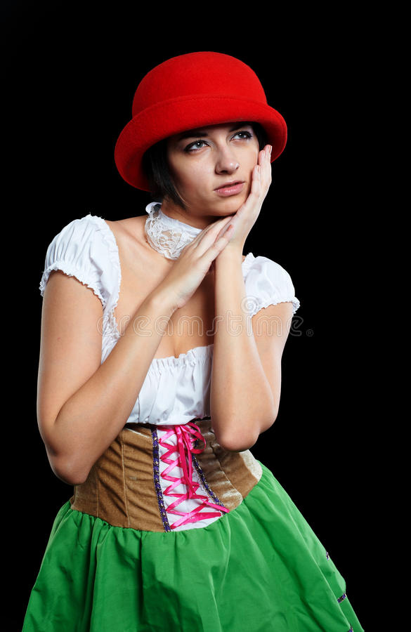 German Beer Girl Royalty Free Stock Image