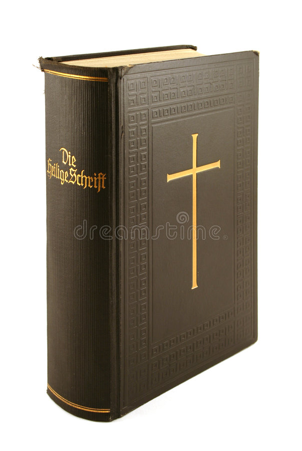 German bible. (Heilige Schrift) isolated on white stock photography