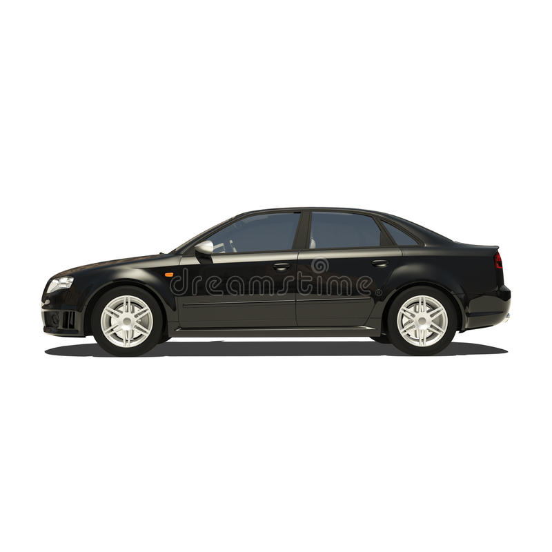 Download German Black Car Isolated On White Stock Illustration - Image: 34042020