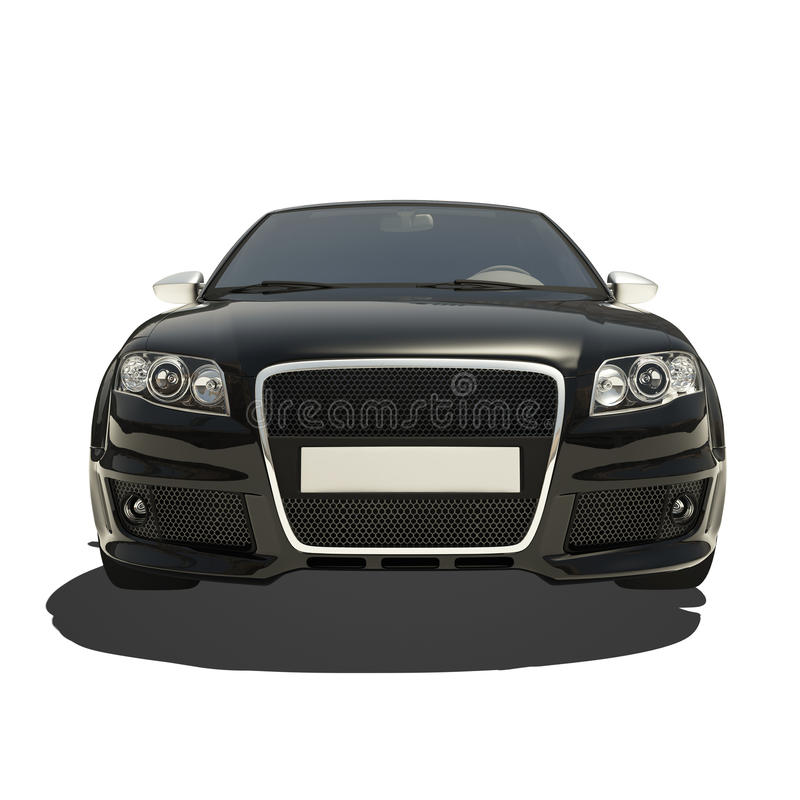 Download German Black Car Isolated On White Stock Illustration - Image: 34042032