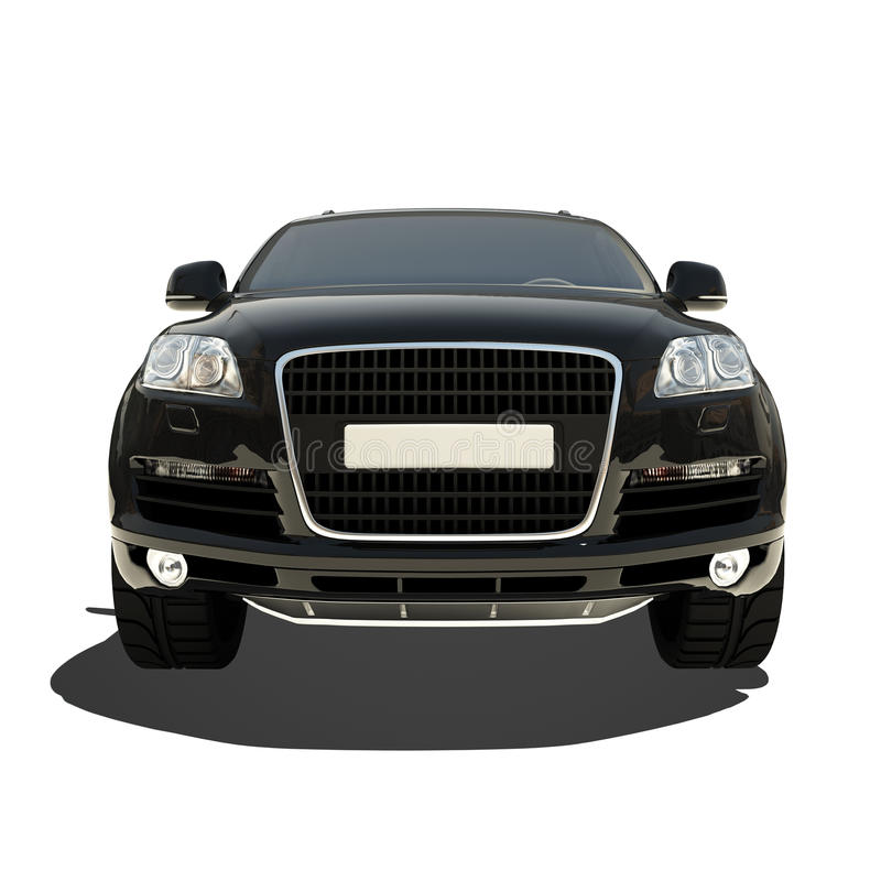 Download German Black Car Isolated On White Stock Illustration - Image: 34042002