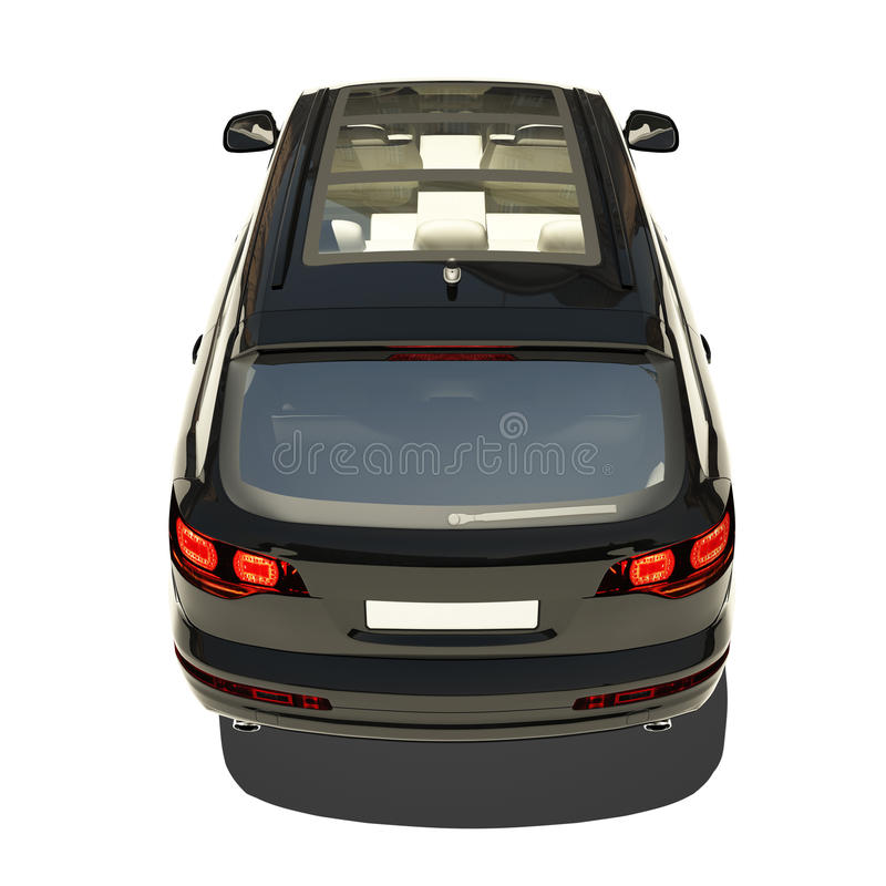 Download German Black Car Isolated On White Stock Illustration - Illustration of shine, saloon: 34042016