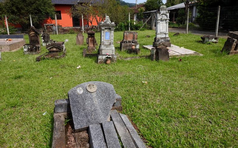 German brazilian cemetery royalty free stock photo