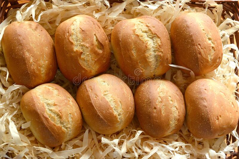 German bread buns - Broetchen royalty free stock photo