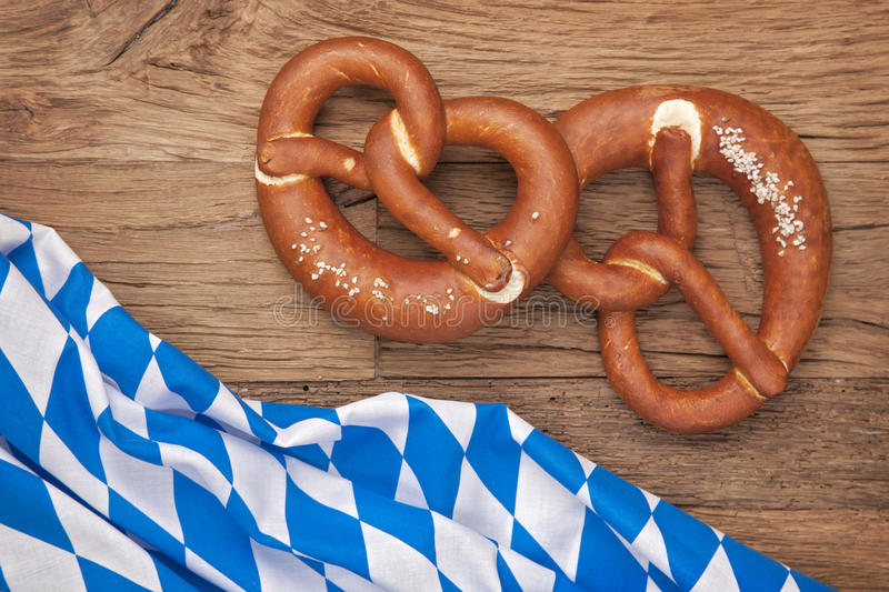 German bretzels stock image