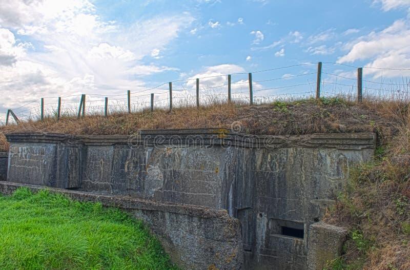 A German bunker of world war one Belgium Flanders fields stock image