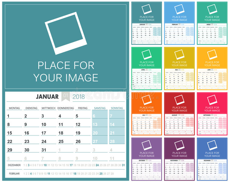 12 month calendar 2015 2018