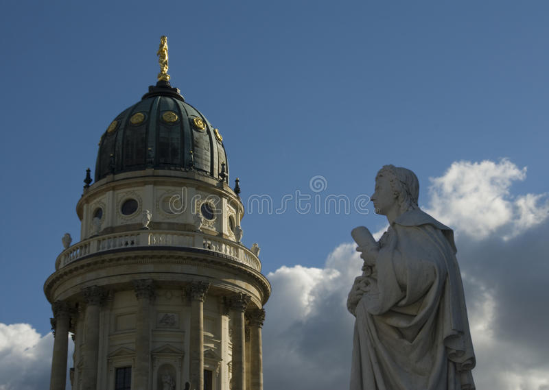 Download German Cathedral And Friedrich Schiller Royalty Free Stock Photos - Image: 10182018