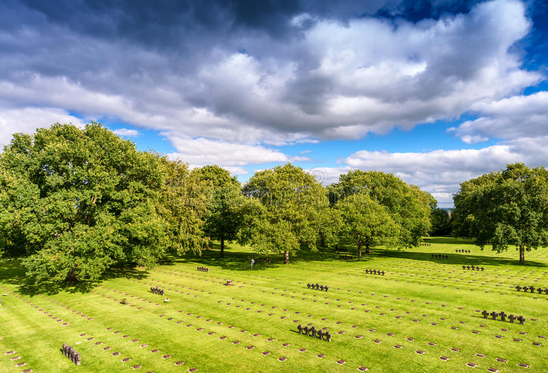 German cemetery at La Cambe in Normandy.  stock images