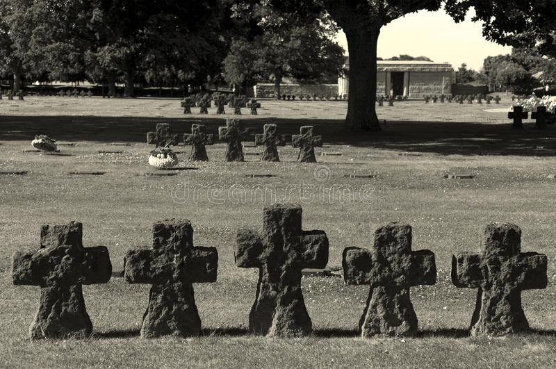 Download German cemetery, La Cambe stock photo. Image of day, cemetery - 34328154