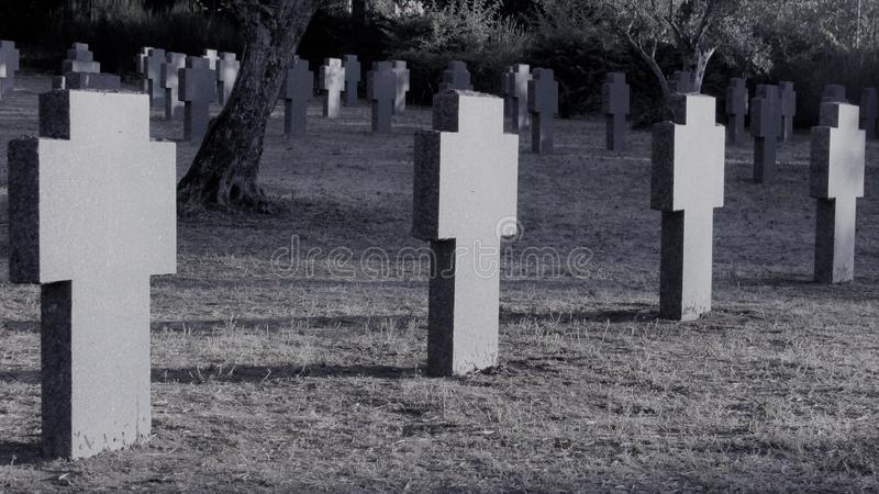 German cemetery 2 stock images