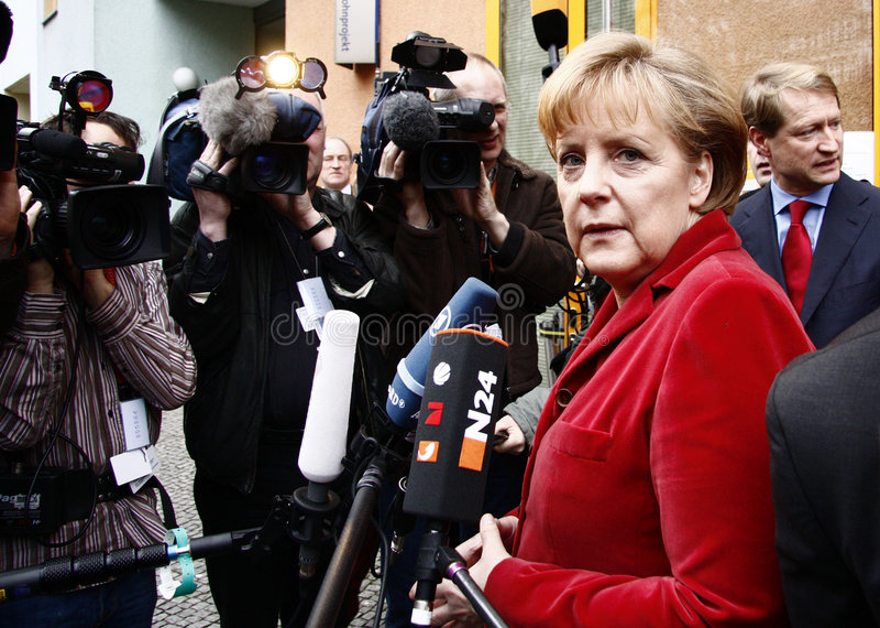 German Chancelor Angela Merkel royalty free stock photo