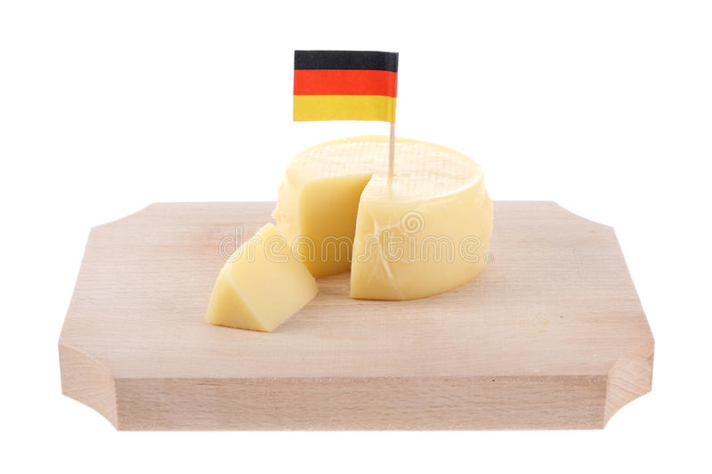 German cheese. Isolated on white stock images