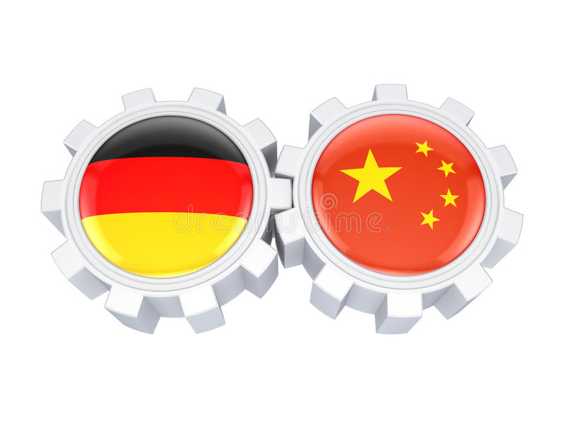 Download German And Chinese Flags On A Gears. Royalty Free Stock Photography - Image: 28872197