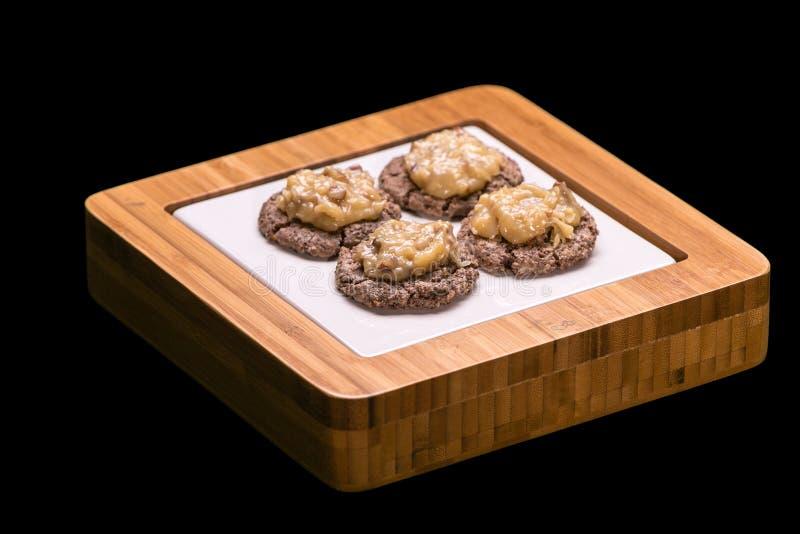 German Chocolate Cookies royalty free stock image