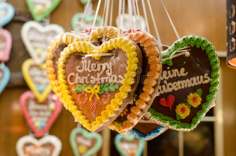 German Christmas gingerbreads. For sale background beautiful berlin cake candy celebration chocolate cologne color colorful cookie copy culture decoration stock image