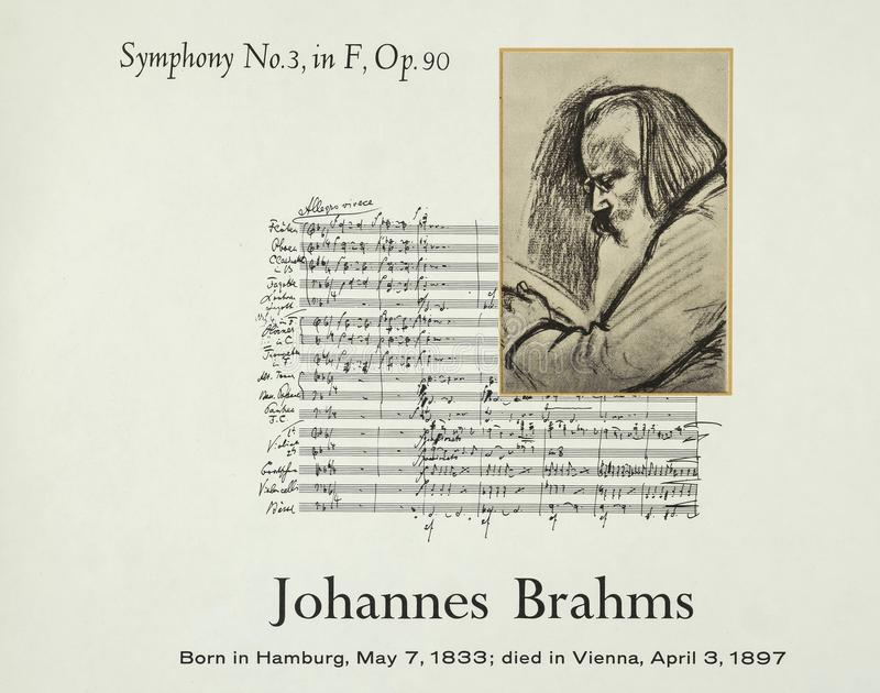 German composer Johannes Brahms royalty free stock image