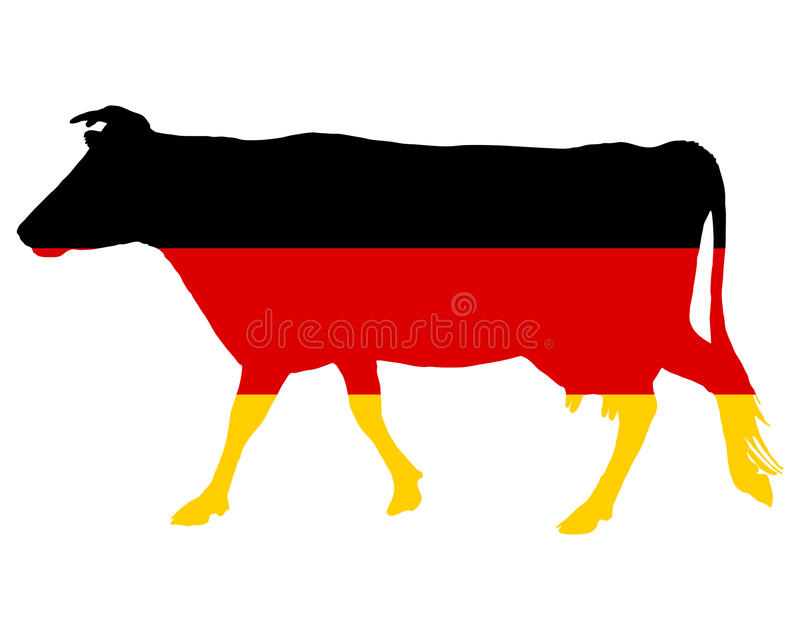 Download German cow stock vector. Illustration of color, banner - 14654930