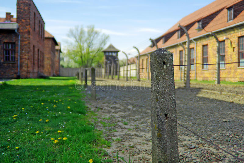 Death camp Auschwitz. German death camp Auschwitz-Birkenau, Poland stock images