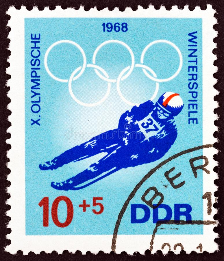 GERMAN DEMOCRATIC REPUBLIC - CIRCA 1968: A stamp printed in Germany shows Luger, circa 1968. stock image