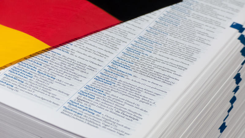 German dictionary royalty free stock photos