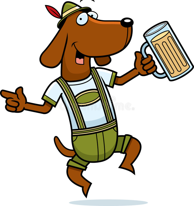 German Dog vector illustration