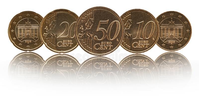 German euro cent Germany coins stock image