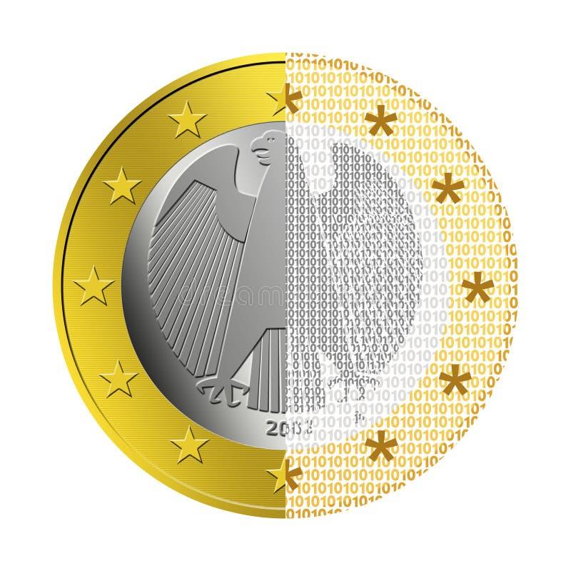 German Euro E-Payment stock illustration