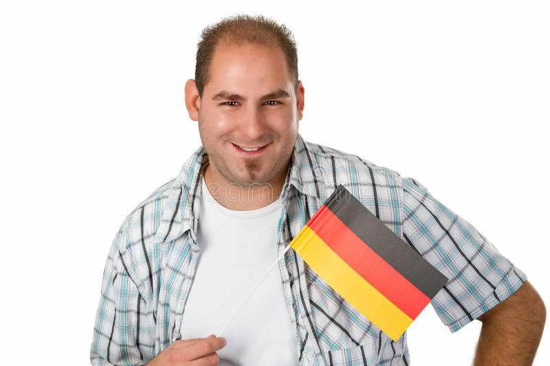 Download German fan stock photo. Image of isolated, flag, person - 26286334