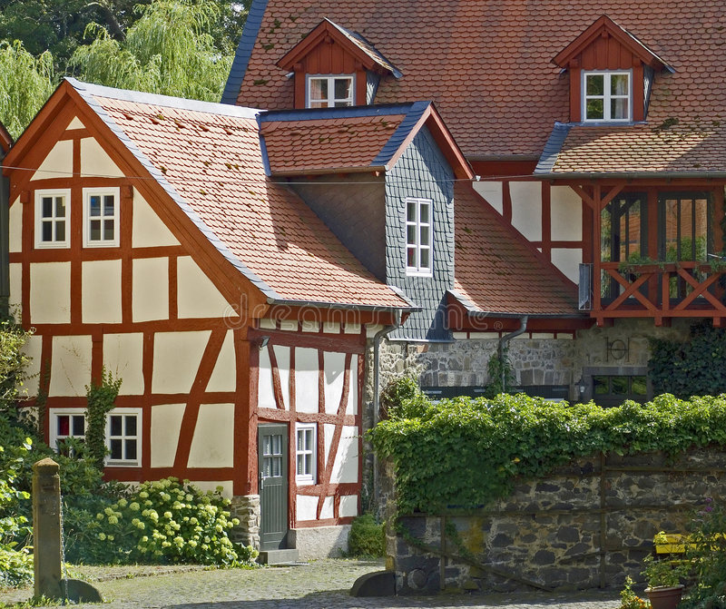 Download German farm houses stock image. Image of roofs, terracotta - 3481401