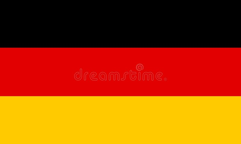 German Flag stock illustration