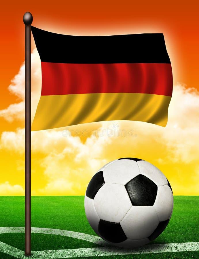 Download German flag and ball stock illustration. Illustration of sport - 18845582