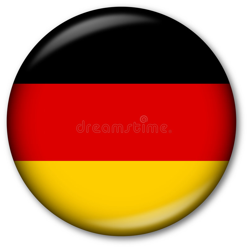German Flag Button. Glassy Web Button with the German flag