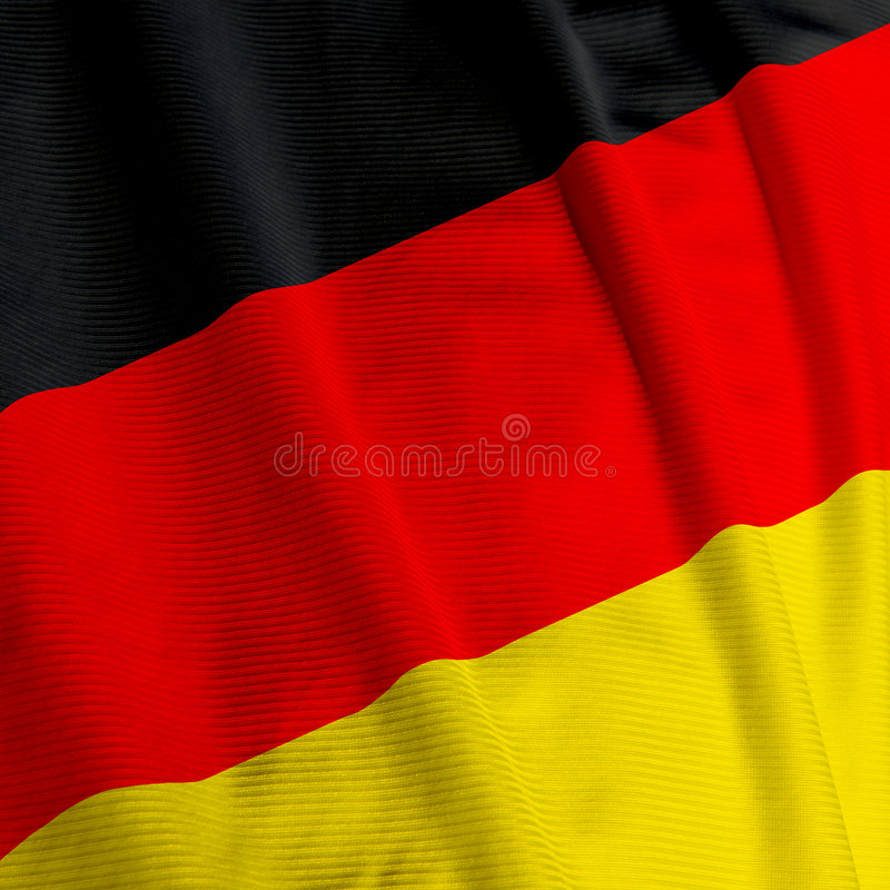 German Flag Closeup stock image