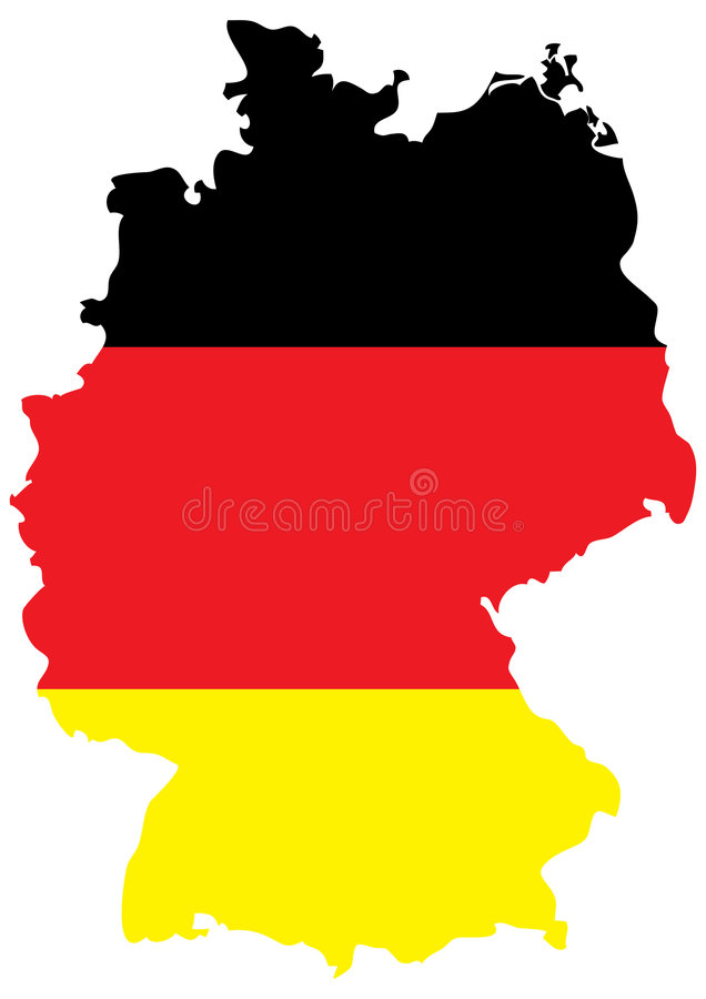 German Flag On Country Map Stock Vector Illustration Of Flag 7095540