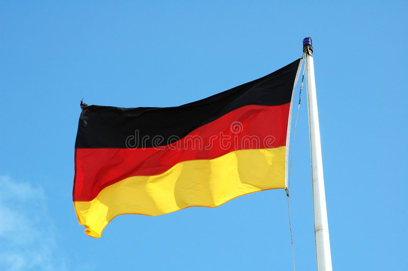 German flag flying royalty free stock photo