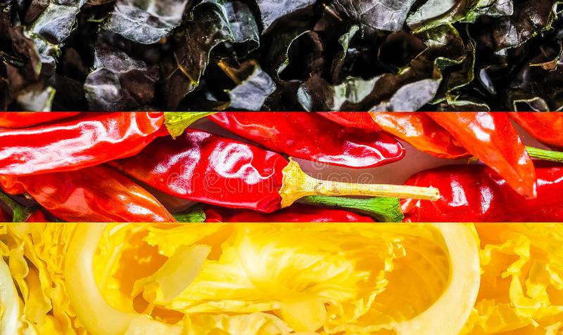 German Flag Of Germany Made With Food Stock Image Image Of