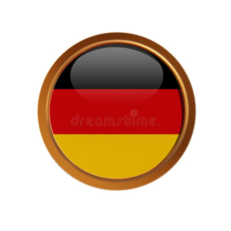 German flag in the golden frame stock illustration
