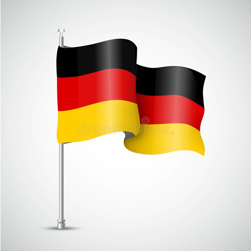 German flag of the Great Britain. Vector illustration royalty free illustration