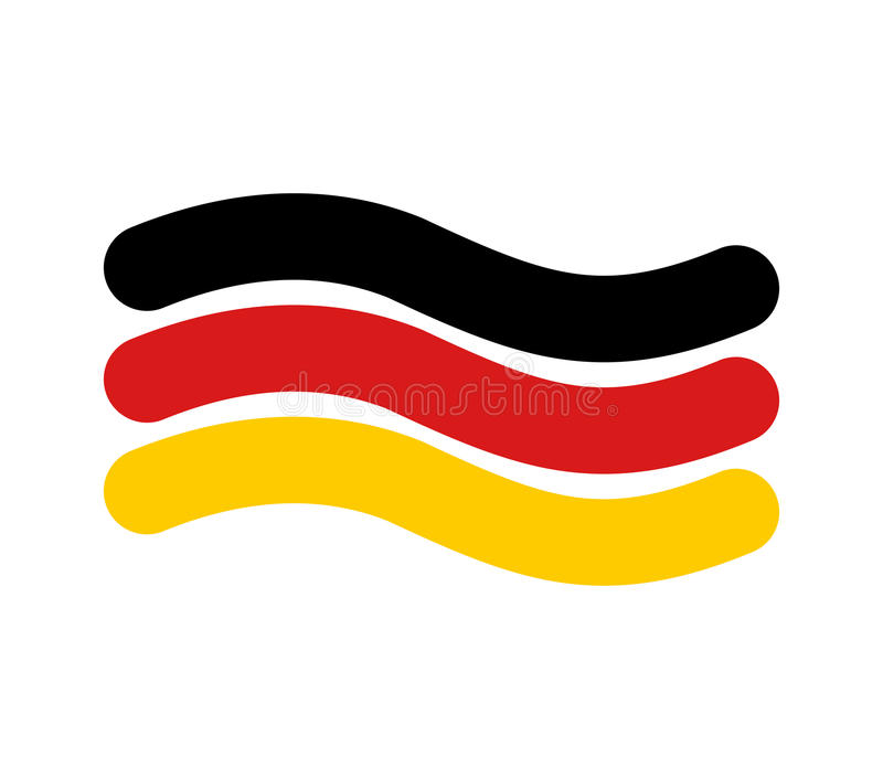 German Flag Linear Style Sign Of State Of Germany Symbol Of Fe