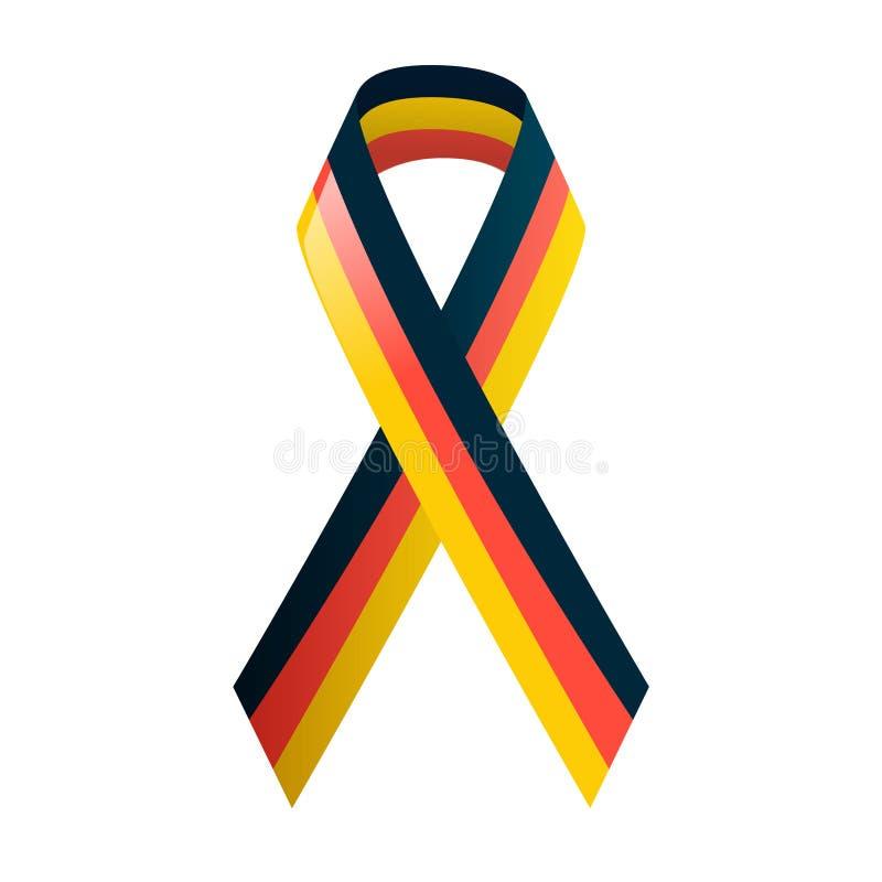 German flag. Ribbon in national colors. vector illustration
