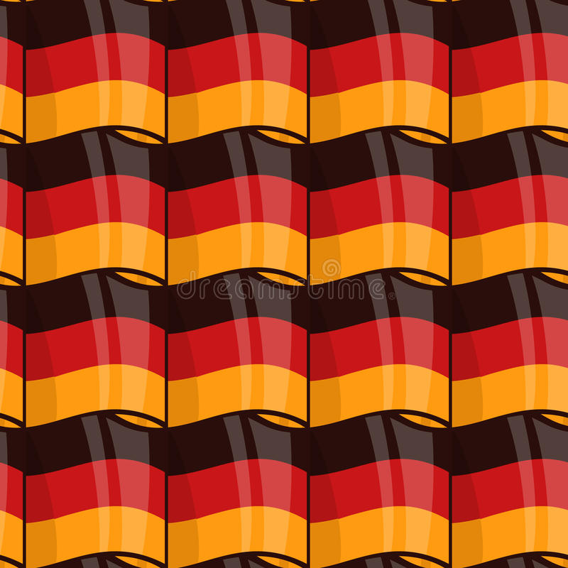 German flag seamless wrapping pattern vector illustration