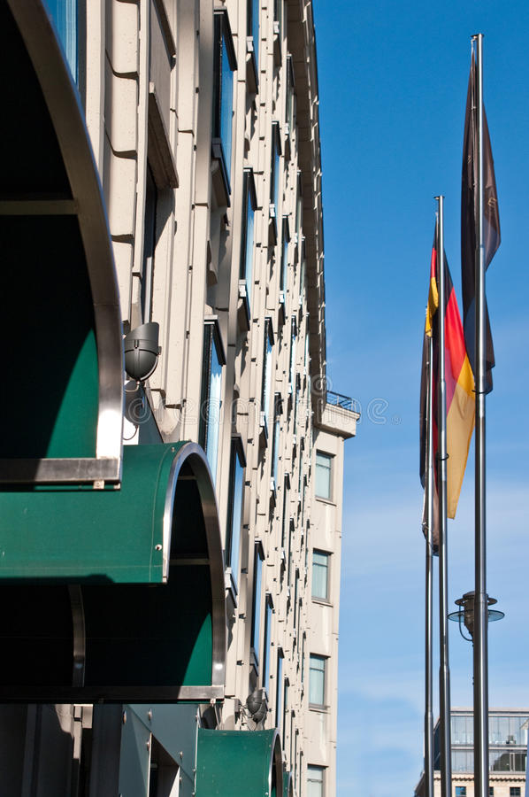 German flags on Berlin street stock photos