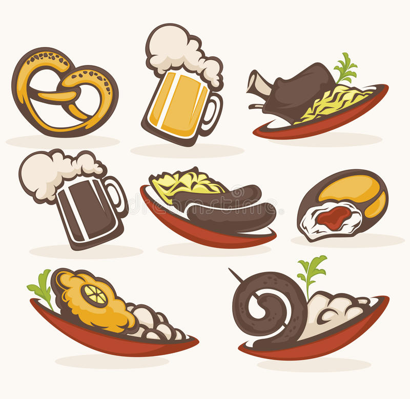German food stock illustration