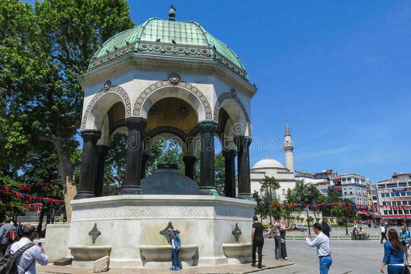 German Fountain or Alman Çeşmesi in Sultán Ahmed Park. Istambul stock image