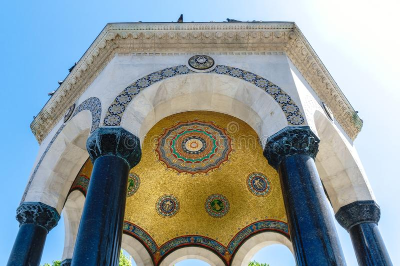 German Fountain in Sultanahmet. German fountain which is a gift from Wilhelm II in Sultanahmet Square, built in 1898 stock image