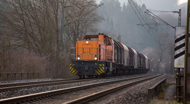 German freight train. A plain german freight train stock photo