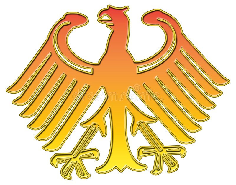 German golden eagle stock illustration