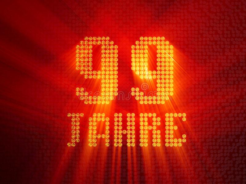German golden number ninety-nine years. 3D render royalty free illustration
