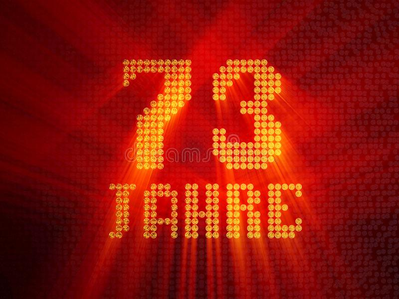 German golden number seventy-three years. 3D render royalty free illustration